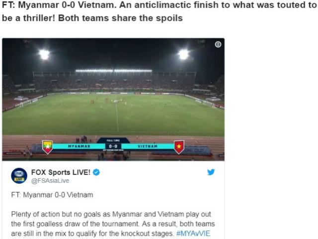Việt Nam hòa cay đắng Myanmar: Báo châu Á tiếc cho Văn Toàn, Công Phượng