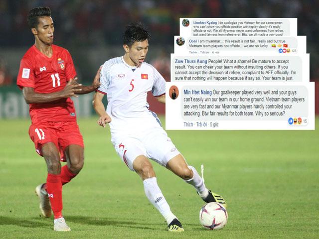 ĐT Việt Nam bị tước bàn thắng: Fan Myanmar phản ứng bất ngờ