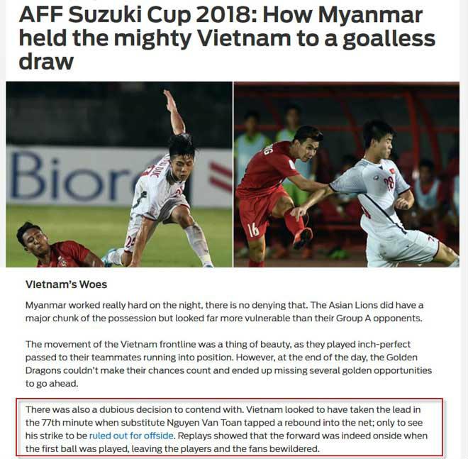 Việt Nam hòa cay đắng Myanmar: Báo châu Á tiếc Văn Toàn mất oan bàn thắng - 1