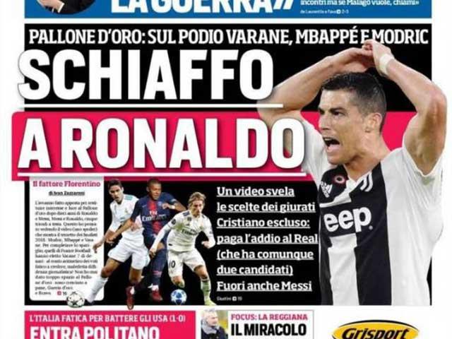 """Ronaldo mất bóng Vàng: """"Ông trùm"""" Real trả thù, phỉ báng giải thưởng?"""