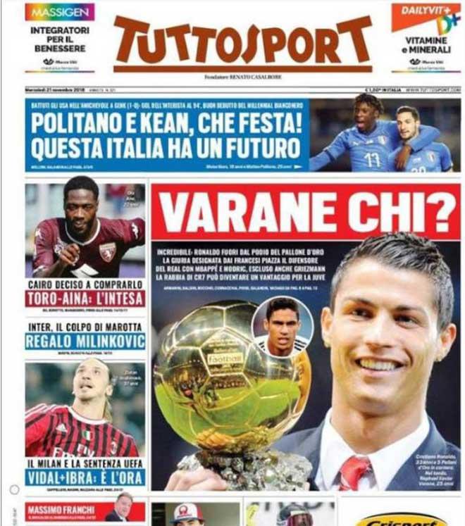 """Ronaldo mất bóng Vàng: """"Ông trùm"""" Real trả thù, phỉ báng giải thưởng? - 1"""