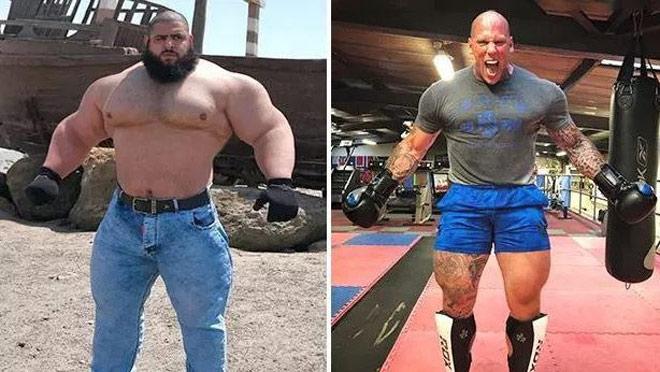 """Ngỡ ngàng trận MMA """"nặng"""" 329kg: Lực sỹ 2m04 đấu dị nhân khổng lồ - 1"""