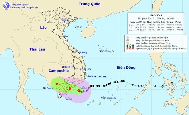 Bão số 9 mạnh cỡ nào nếu đổ bộ đất liền các tỉnh từ Bình Thuận đến Bến Tre? - 1