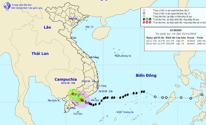 Tin cuối về cơn bảo số 9 vừa hoành hành t Bình Thuận đến Bến Tre - 1