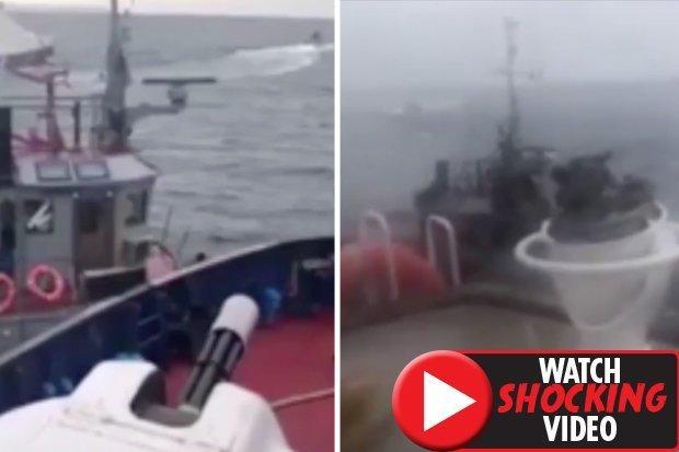 Khoảnh khắc tàu chiến Nga đâm tàu Ukraine bị tố xâm phạm lãnh hải - 1