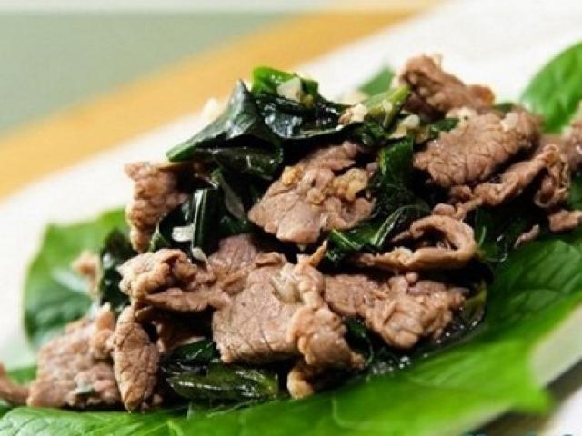 Thịt bò xào lá lốt ngon cơm cho bữa tối