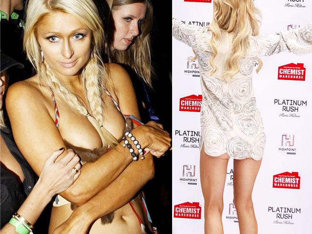 """Paris Hilton vẫn hồn nhiên dù gặp """"tai họa"""" với váy quá cũn cỡn"""
