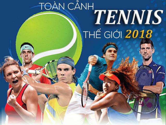"""""""Võ đài"""" tennis 2018: Nadal - Federer - Djokovic chia giang sơn"""