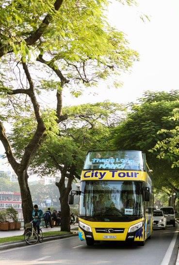 """Hà Nội có thêm ba xe buýt 2 tầng mui trần màu sắc """"cực lạ"""" - 1"""