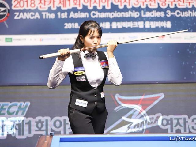 """""""Thánh nữ"""" bi-a Campuchia đăng quang giải châu Á"""