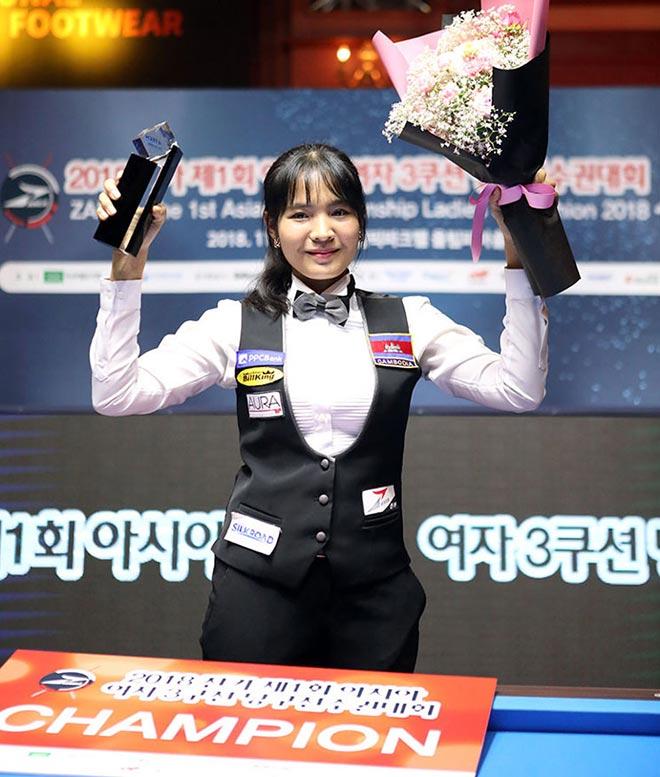 âThánh nữâ bi-a Campuchia ÄÄng quang giải châu à - 8