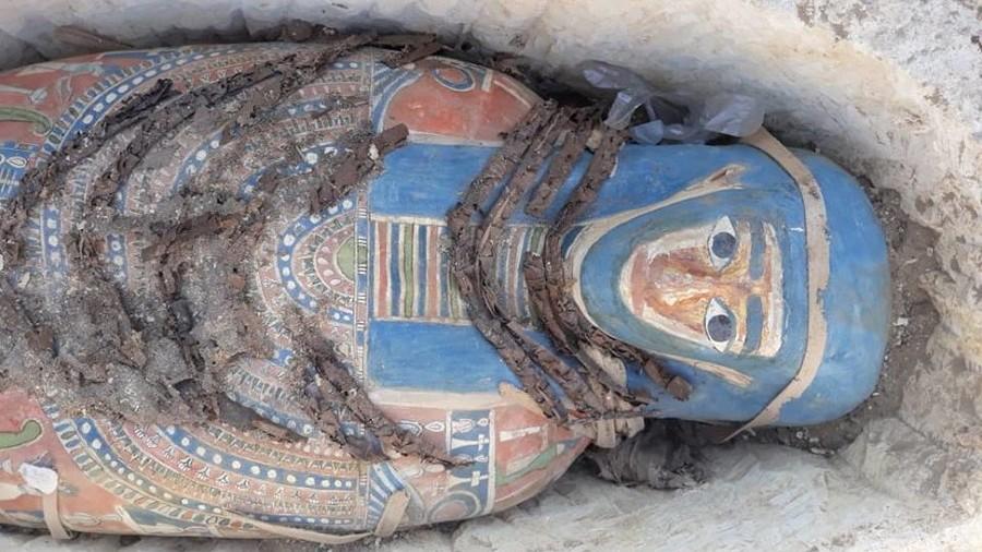 Phát hiện 8 xác ướp Ai Cập cực hiếm nguyên vẹn suốt 2.300 năm - 1