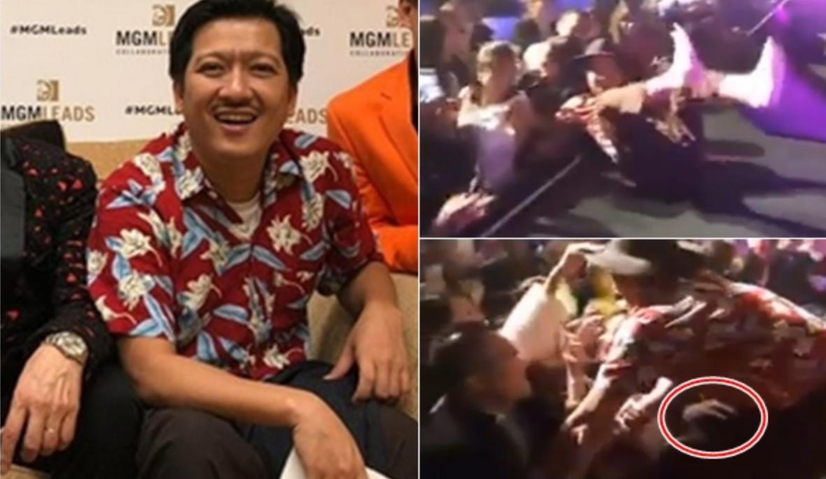 Clip: Trường Giang bị khán giả kéo ngã sõng soài, sàm sỡ trên sân khấu - 1