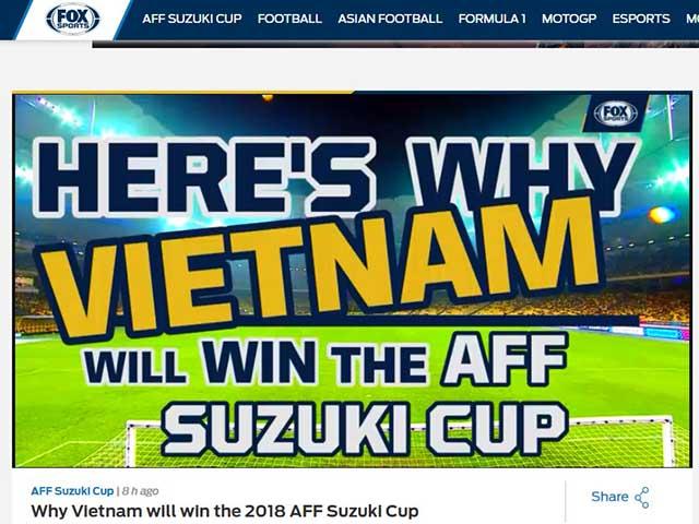 Báo châu Á tin Việt Nam hạ Philippines, vượt Thái Lan vô địch AFF Cup