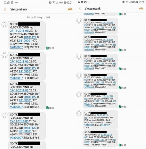 Vietcombank lên tiếng vụ thẻ ATM bị mất 32 triệu đồng - 1
