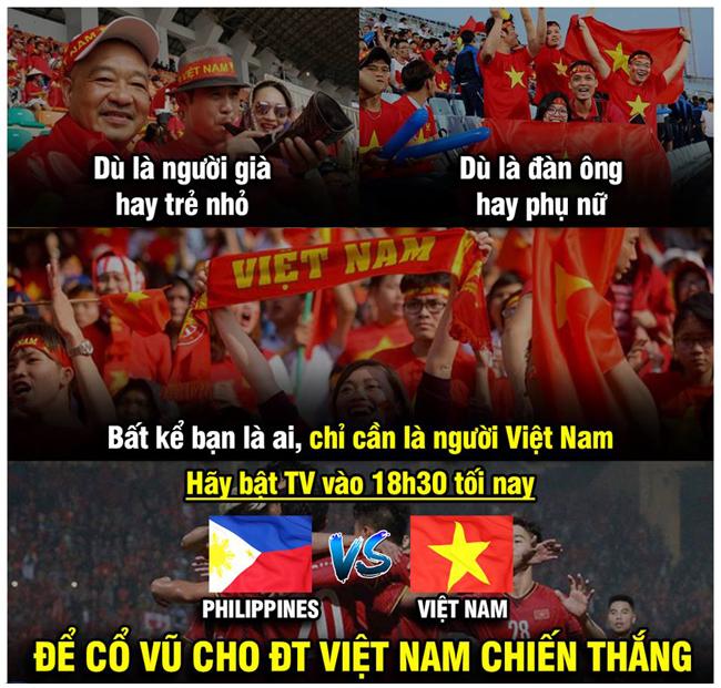 Dân mạng kêu gọi cổ vũ đội tuyển Việt Nam.