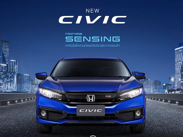 Honda Civic 2019 ra mắt tại Thái Lan, bổ sung thêm phiên bản thể thao RS