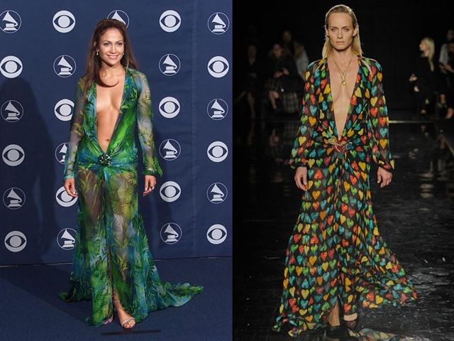 Versace hồi sinh váy nổi danh của Jennifer Lopez