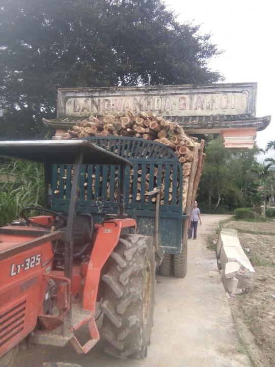 Cười ra nước mắt cảnh xe máy cày dỡ cả cổng làng chở đi - 1