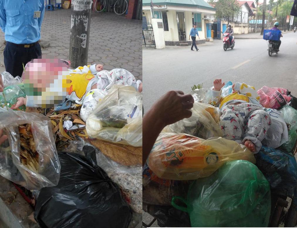 Bé trai kháu khỉnh bị bỏ vào thùng rác ở Hà Nội - 1