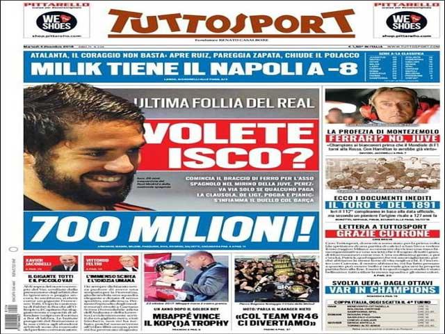 """Isco bị """"ghẻ lạnh"""" tại Real: Vào """"lãnh cung"""" vẫn có giá 700 triệu euro"""
