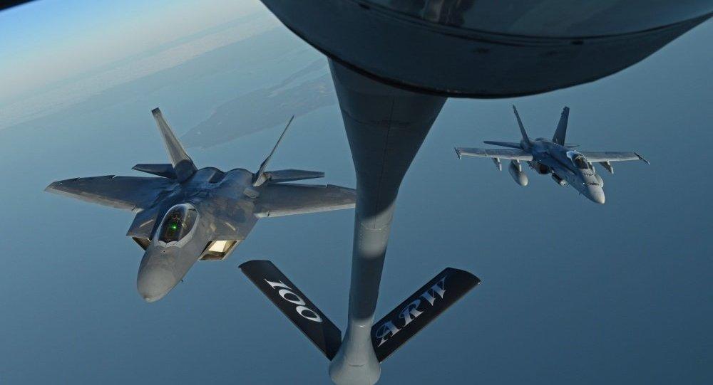 Chiến đấu cơ Mỹ và máy bay tiếp dầu trên không rơi xuống biển ở Nhật - 1