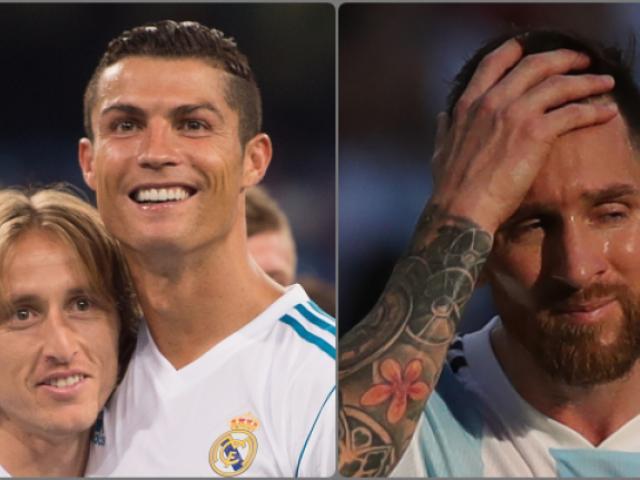 Đoạt Quả bóng Vàng, Modric xát muối nỗi đau Ronaldo – Messi