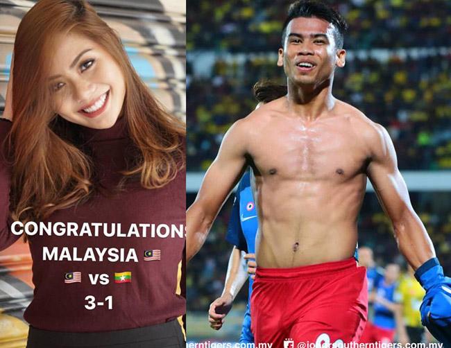 Trong đội tuyển Malaysia, cầu thủSafawi Rasid cũng khiến đồng đội ghen tị khi có bạn gái xinh như mộng, tênAnim Ezati Rizki, hiện đang là MC đài truyền hình.