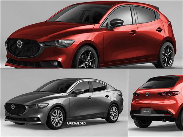 Lộ ảnh phác thảo Mazda 2 lấy cảm hứng từ Mazda 3 2019