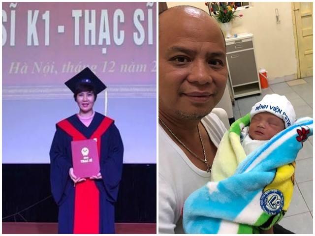 """Vợ """"Long bá đạo"""" nhận bằng thạc sĩ sau khi sinh con thứ 4 ở tuổi U50"""