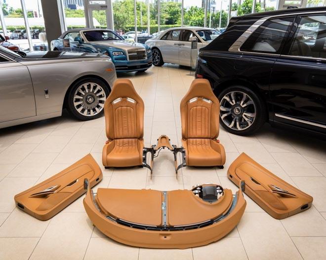 Bộ ghế ngồi 10 năm tuổi của Bugatti Veyron được bán với giá 3 tỷ đồng - 1