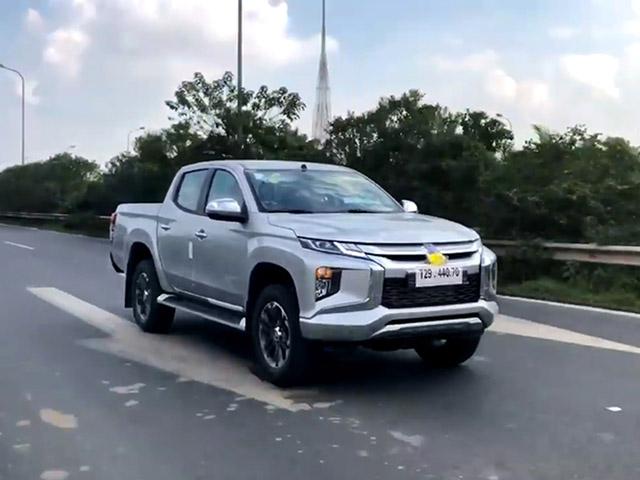 Lộ hình ảnh chạy thử Mitsubishi Triton 2019 tại Việt Nam