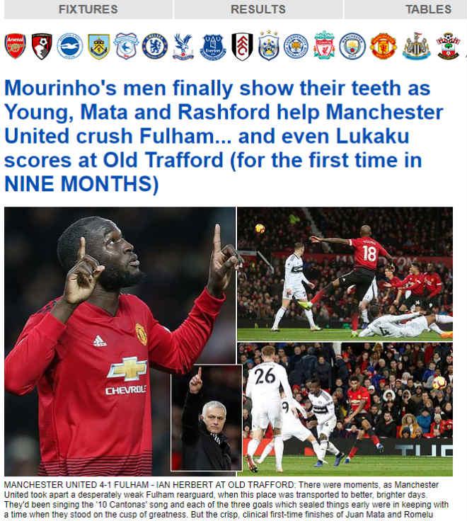 MU tưng bừng nhất từ đầu mùa, báo Anh vẫn cười nhạo thầy trò Mourinho - 1