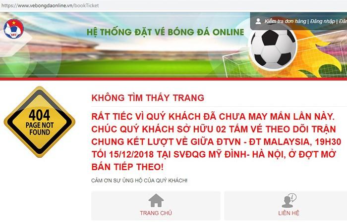 Chung kết AFF Cup: Fan tiết lộ bí quyết mua vé online thành công - 1