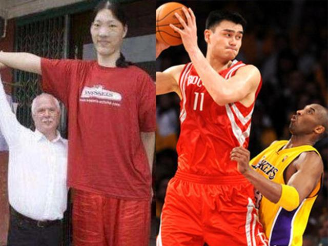 Trung Quốc phát hiện nữ VĐV 2m48: Yao Ming 2m29 phải ngước nhìn