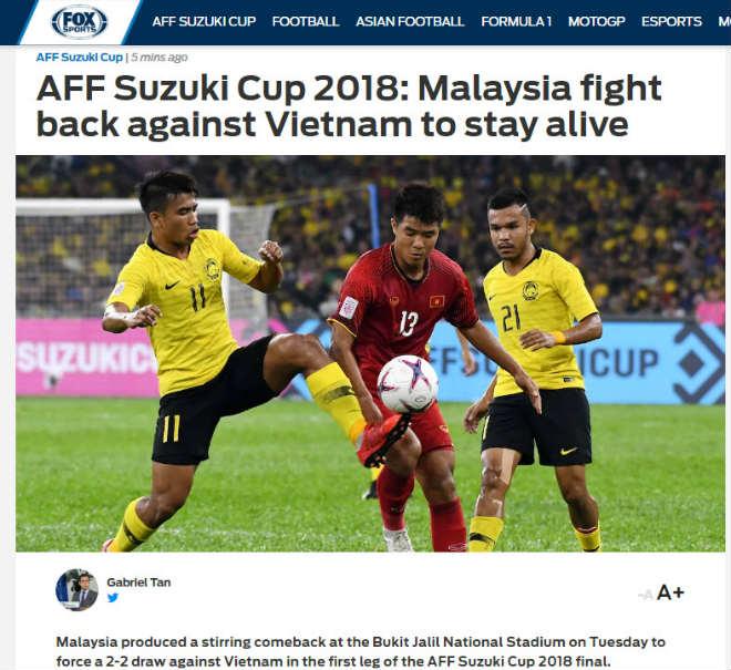 """Việt Nam xuất thần ở chung kết: Báo châu Á tiếc nuối, báo Malaysia """"run rẩy"""" - 3"""