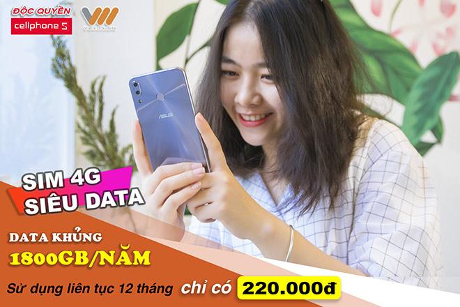 Sim 4G siêu data 1800GB/năm, lướt web thả ga – độc quyền tại Cellphones - 1