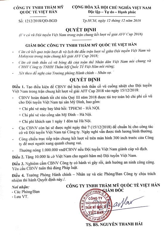 Giám đốc VTM thưởng nóng 1 triệu cho mỗi nhân viên nếu Việt Nam vô địch - 1
