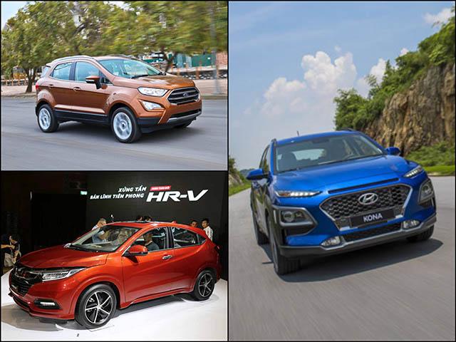 Doanh số crossover hạng B tháng 11/2018: Hyundai Kona tiếp đà tăng trưởng, HR-V sụt giảm đáng kể