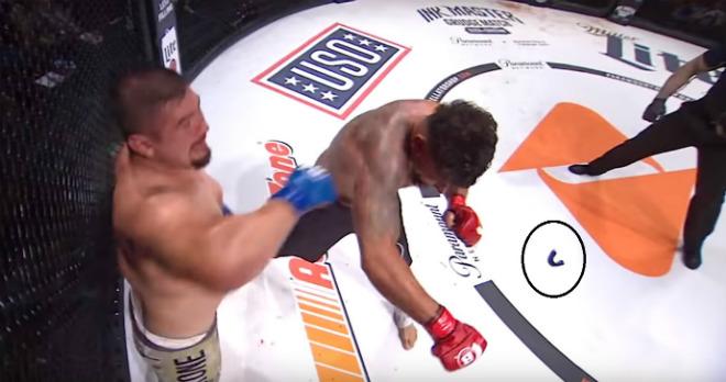 """Giật mình MMA: Gã béo ra đòn cuồng phong, đối thủ """"bay cả hàm"""" - 1"""