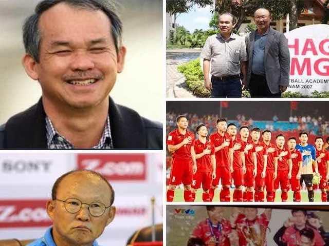 """Dân mạng gọi vang tên """"bầu"""" Đức và HLV Park Hang Seo sau cúp vàng lịch sử"""