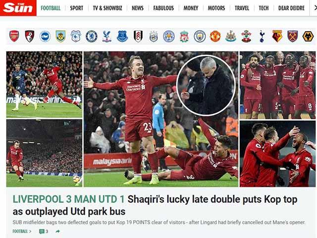 MU thua derby nước Anh: Báo chí tấn công Mourinho, khen Klopp và Shaqiri