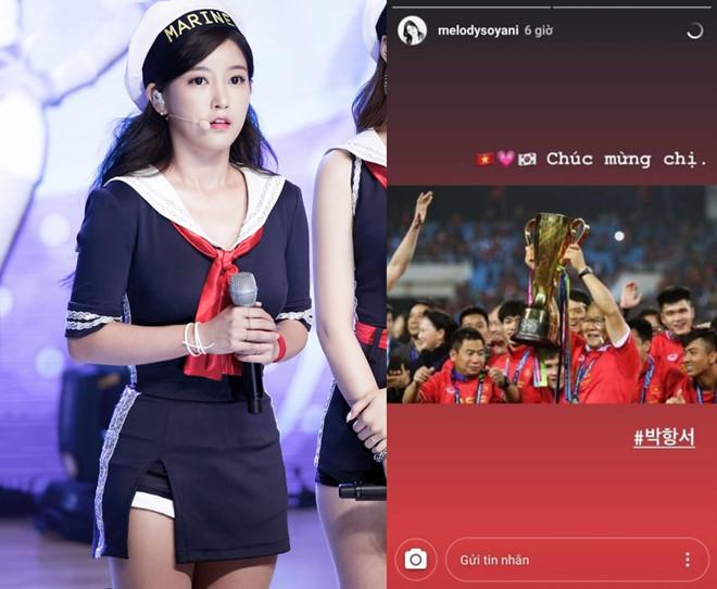 Mỹ nhân Hàn mắc lỗi hài hước khi chúc mừng HLV Park Hang-seo - 1