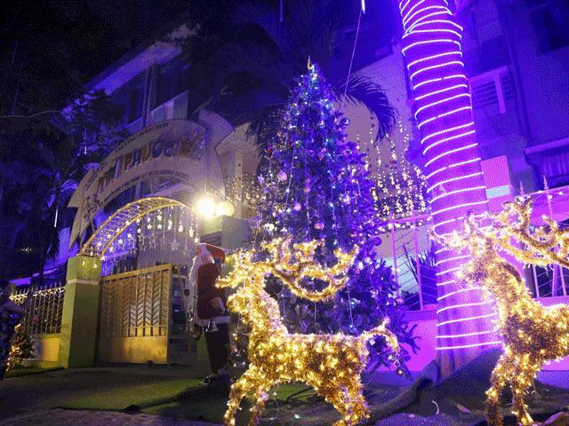 """Giáng sinh huyền ảo ở """"phố đại gia"""", khách tham quan quên lối về"""