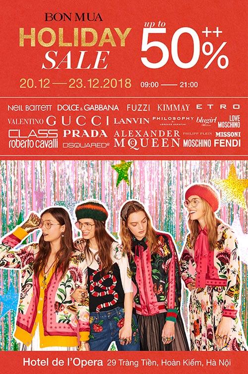 """""""Cơn lốc hàng hiệu"""" đã trở lại tại BON MUA Holiday Sale 2018 - 1"""