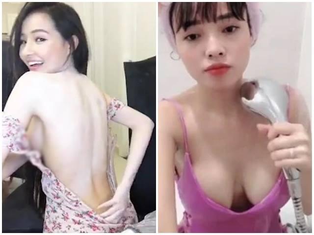 """Ngân 98, vợ Lê Hoàng mặc hớ hênh livestream khiến fan nam """"dán chặt vào màn hình"""""""