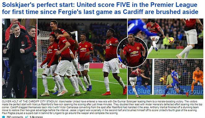 """MU đại thắng Cardiff: Báo Anh khen tướng mới Solskjaer """"ăn đứt"""" Mourinho - 1"""