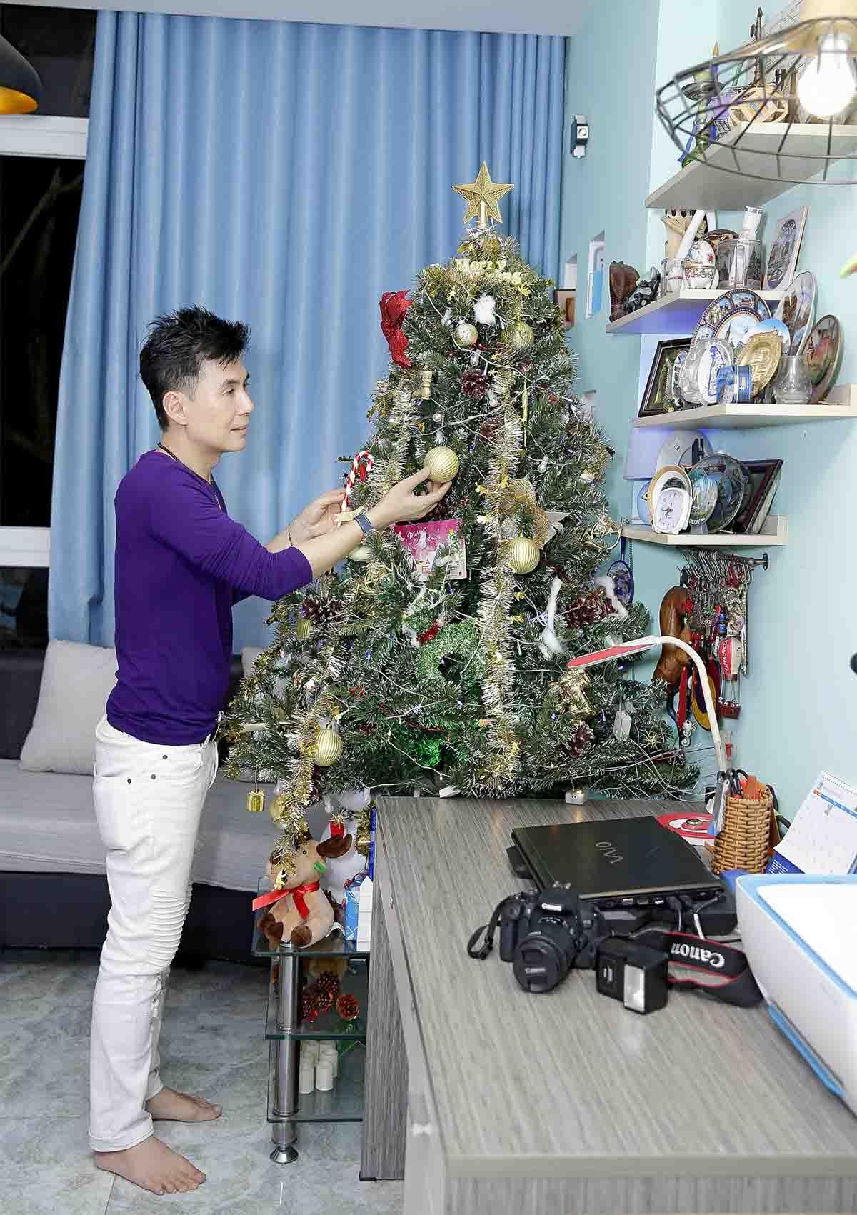 Ca sĩ Đoan Trường tất bật trang trí nhà phố 70 tỷ đón Giáng sinh - 1