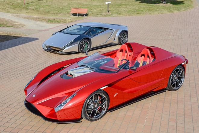 """Bộ đôi siêu xe """"triệu đô"""" Lamborghini và Ferrari được làm theo phong cách hoài cổ - 1"""