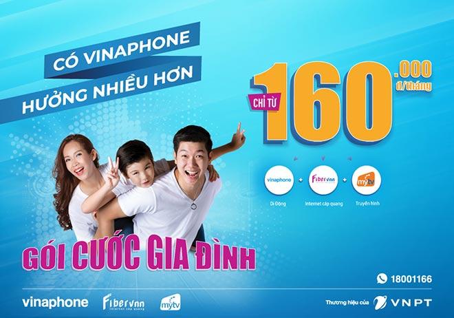 Gói Gia đình tích hợp 3 trong 1 thu hút thuê bao chuyển mạng đến VinaPhone - 1